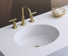 Buy The Kohler Vibrant Moderne Brushed Gold Direct. Shop For The Kohler  Vibrant Moderne Brushed Gold Purist Widespread Bathroom Faucet With  Ultra Glide ...