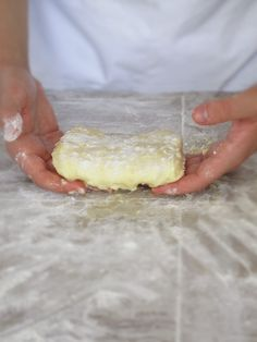 A block of beurrage (butter and flour block), ready for the fridge French Croissant, Biscuit Pudding, Homemade Croissants, Croissant Recipe, Egg Wash, Dry Yeast, A 17, Bakery, Good Food