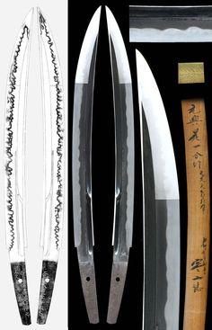 Nambokucho-style o-kissaki katana (Samurai Sword).