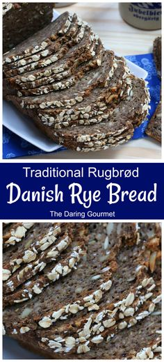This authentic homemade Danish rye bread (rugbrod) is packed with nutrients, has a fantastic texture and tastes absolutely incredible! Homemade Rye Bread, Rye Bread Recipes, Bakery Recipes, Gourmet Recipes, Yummy Recipes, Danish Bread Recipe, Danish Rye Bread, Danish Recipes, Gastronomia