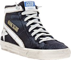 984cee82 Golden Goose Slide Sneakers - Sneakers - Barneys.com Gallina De Oro, Denim  Desgastado