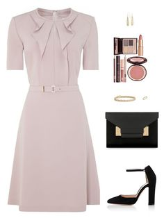 """Sin título #4225"" by mdmsb on Polyvore featuring moda, HUGO, Gianvito Rossi, Sophie Hulme, Blue Nile y Charlotte Tilbury"