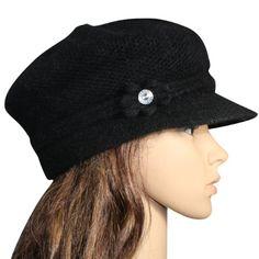 7e83dacffdd Angora Blend Crocheted Knit Beanie Visor Cap Hat - Various Design Colors -  List price