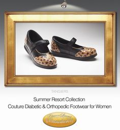 One of our Summer Resort styles.  Couture Diabetic and Orthopedic footwear for Woman.  walkanotherway.com