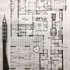 # floorplan # draw # instahome # myhome # house # home # interior # arch # ar . Architecture Concept Drawings, Architecture Sketchbook, Japanese Architecture, Architecture Plan, Architecture Details, The Plan, How To Plan, Floor Plan Sketch, Villa Plan