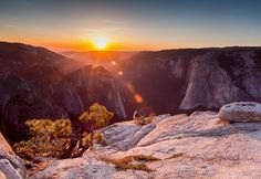 Sunset at Taft Point. A short hike for an awesome view. Making your way back in the dark is a whole new adventure. by pscottphoto
