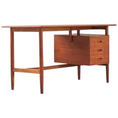 midcentury danish teak desk 1950s