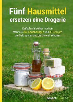 Fünf Hausmittel ersetzen eine Drogerie - Das erste smarticular-Buch - Mehr als 300 Anwendungen und 33 Rezepte, die Geld sparen und die Umwelt schonen!