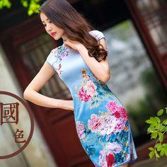 chinese dress short sleeve dress in winter            https://www.ichinesedress.com/