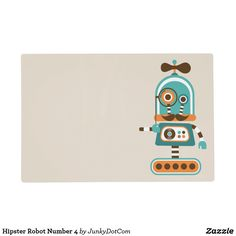 Hipster Robot Number 4 Placemat