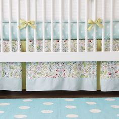 Bebe Jardin Crib Bedding | Girl Baby Bedding | Carousel Designs