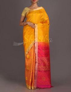 Keerti Mute Ornate Half And Half Splendid Pure #PattuSilkSaree