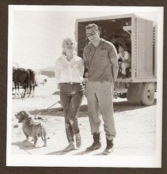 M. Monroe and her Basset
