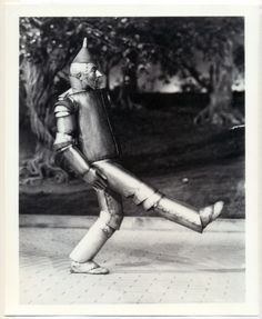 "Jack Haley as the ""Tin Man"" in The Wizard of Oz (1939)"