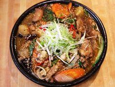 닭찜 Korean braised chicken with vegetables. #korean