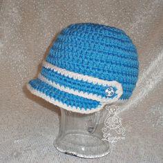 návod - háčkovaná čepice s kšiltem Crochet Baby, Beanie, Hats, Crocheting, Fashion, Crochet, Moda, Hat, Fashion Styles