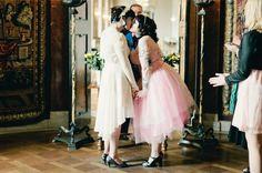These dresses, lesbian wedding