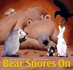 Bear snores on activities ~ favorite book with our hibernation study @countryfun.edublogs.org