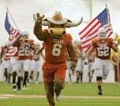 """To enjoy more and to shout louder """"Hook Em Horns!!"""", I will be the cow in the football game."""