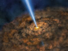 Illustration of Cool Dust Around an Active Black Hole via NASA... #NASA #picture_of_the_day