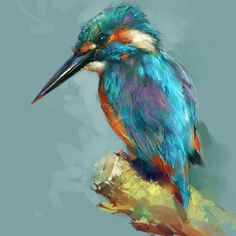 80 ideas for artistic acrylic painting for beginners - Aquarell Tiere - Animales Birds Painting, Art Painting, Animal Art, Corel Painter, Drawings, Art, Cross Paintings, Animal Paintings, Bird Art