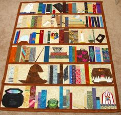 LOVE This Idea A Bookcase Quilt With All My Favorite Books Woot