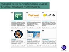 35 Digital Tools To Create Simple Quizzes And Collect Feedback From Students If there is one thing teachers lack, it's time. And while using technology to automate learning has been frowned upon by many, using. Teaching Technology, Digital Technology, Educational Technology, Teaching Resources, Teaching Tools, Teaching Ideas, Web 2.0, Instructional Technology, Formative Assessment