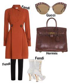 """#fashion #minifashionicon"" by minifashionicon on Polyvore featuring Fendi, Hermès and Gucci"