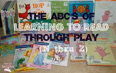 """The ABC's of Learning to Read Through Play: N thru Z (part 2) """"The ABC's of Learning to Read Through Play - A thru M  """"Can your child learn to read in a fun, non-stressful and hands-on way? The answer is, YES!  You can not only help your child learn to read through lots of play, hands-on activities and of course daily exposure to books but you can help them become lifelong readers as well."""" --Mom to 2 Posh Divas"""