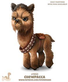I love llamas and star wars Cute Animal Drawings, Kawaii Drawings, Cute Drawings, Baby Animals, Funny Animals, Cute Animals, Alpacas, Fantasy Creatures, Mythical Creatures