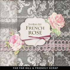 Scrapbooking TammyTags -- TT - Designer - Far Far Hill,  TT - Item - Kit or Collection, TT - Style - Mini Kit, TT - Kit Name - French Rose