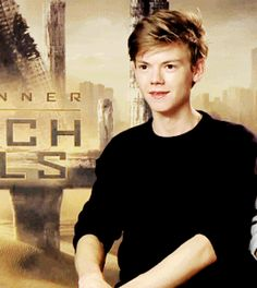 Thomas Brodie Sangster gif Scorch Trials<---This is too cute for words and yet I AM GOING TO USE MY WORDS BC I CANT EVEN RIGHT NOW THOMAS NO STOP THAT