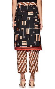 5a5c65f393 Dries Van Noten Panax Skirt-Overlay Silk Pants - Trousers - 505594845 Silk  Pants