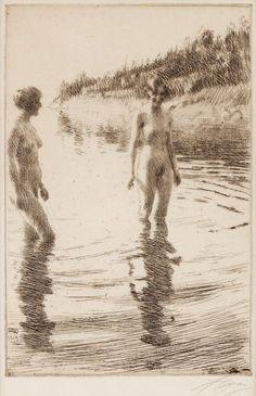 Anders Zorn, Shallow on ArtStack #anders-zorn #art