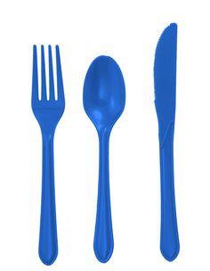 True Blue Cutlery Set ~ http://lanewstalk.com/luxurious-cutlery-design/