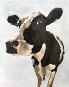 A personal favourite from my Etsy shop https://www.etsy.com/uk/listing/488522897/cow-painting-cow-art-cow-print-cow-oil