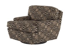 Media 360 Chair  Transitional, Upholstery  Fabric, Leather, Wood, Armchairs  Club Chair by Richard Shemtov