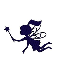 Fairy silhouette digital machine by Institchesembroidery on Etsy