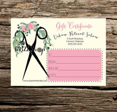 free beauty gift voucher template - beauty salon gift certificate business card template by
