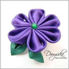 Broche Kanzashi púrpura plantilla de Flor Kanzashi por Danysska