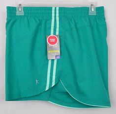 Danskin NOW Performance Shorts Green Size XXL Poly Loose Fit Active Running  - These Danskin NOW womens polyester performance shorts with inner liner feature loose fit styling.  They would be  great for runnng or other active use.