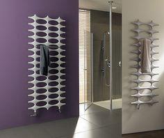 designer radiator - better than bathroom decor :-) Modern Bathrooms Interior, Bathroom Interior Design, Bathroom Towel Decor, Bathroom Furniture, Bathroom Ideas, Home Radiators, Designer Radiator, Shower Niche, Towel Warmer