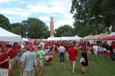 Tailgating on the Quad at Bama with a view of the Denny Chimes= happiness
