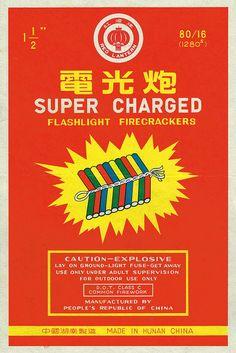 Red Lantern Super Charged 80-16 Firecracker Brick Label
