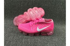 90ac50f8d2 Nike Flyknit Air VaporMax 2018 Women's Running Shoes Pink White Clearance  Pink Running Shoes, Running