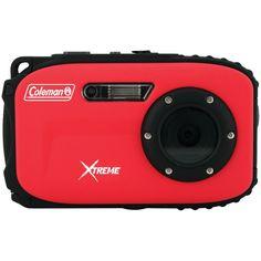 COLEMAN C5WP-R 12.0-Megapixel Xtreme Waterproof Digital Camera (Red)