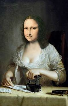 Mona in another famous painting Lisa Gherardini, Mona Lisa Drawing, Mona Friends, Van Gogh, Cool Pictures, Funny Pictures, La Madone, Mona Lisa Parody, Mona Lisa Smile