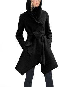Look at this #zulilyfind! Anthracite Mélange Sophia Wool-Blend Coat #zulilyfinds
