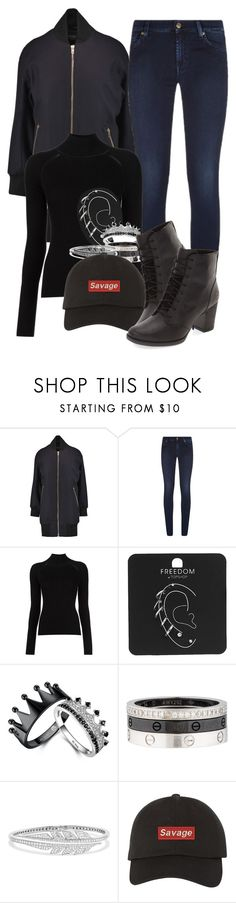 """Untitled #952"" by elliepetkova ❤ liked on Polyvore featuring rag & bone, 7 For All Mankind, Misha Nonoo, Topshop, Cartier, Stephen Webster and Timberland"