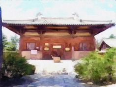 New print available on lanjee-chee.artistwebsites.com! - 'Ancient House' by Lanjee Chee - http://lanjee-chee.artistwebsites.com/featured/ancient-house-lanjee-chee.html